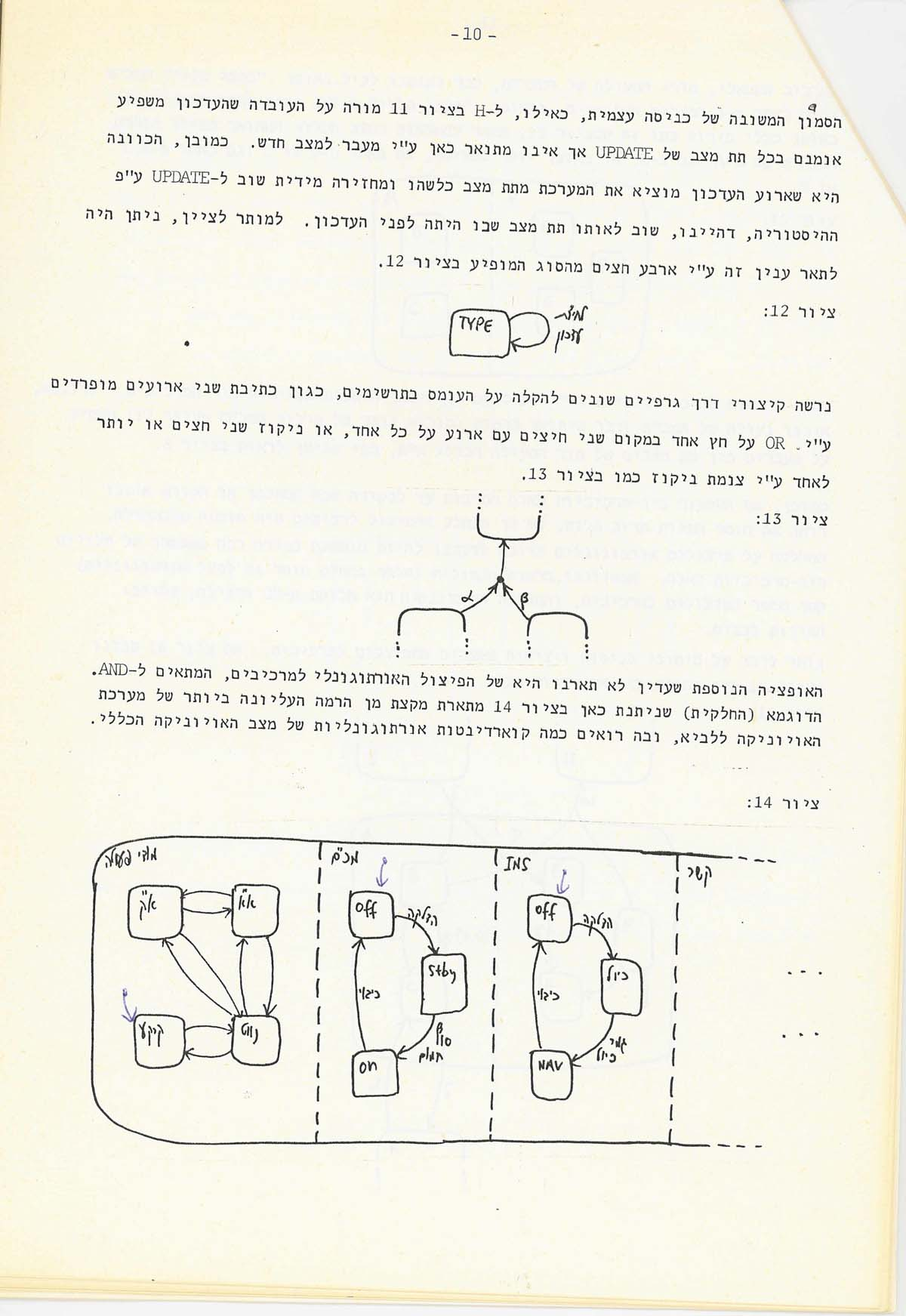 Figure 16. Page 10 of the internal IAI document (December 1983; in Hebrew).