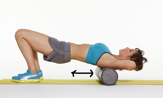 Roll from the top to the bottom of your shoulder blades.