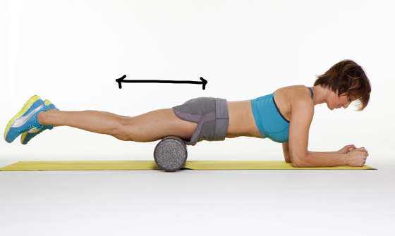 Engage your core to support your spine. 3) Slowly crawl forward on your forearms up to just above your kneecaps, then crawl backward to the top of your thigh.