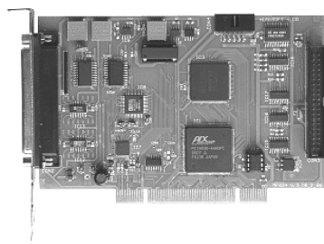 Figure 43: Humusoft MF624 DAQ Card The MF 624 contains 8 channel fast 14 bit A/D converter with simultaneous sample/hold circuit, 8 independent 14 bit D/A converters, 8 bit digital input port and 8