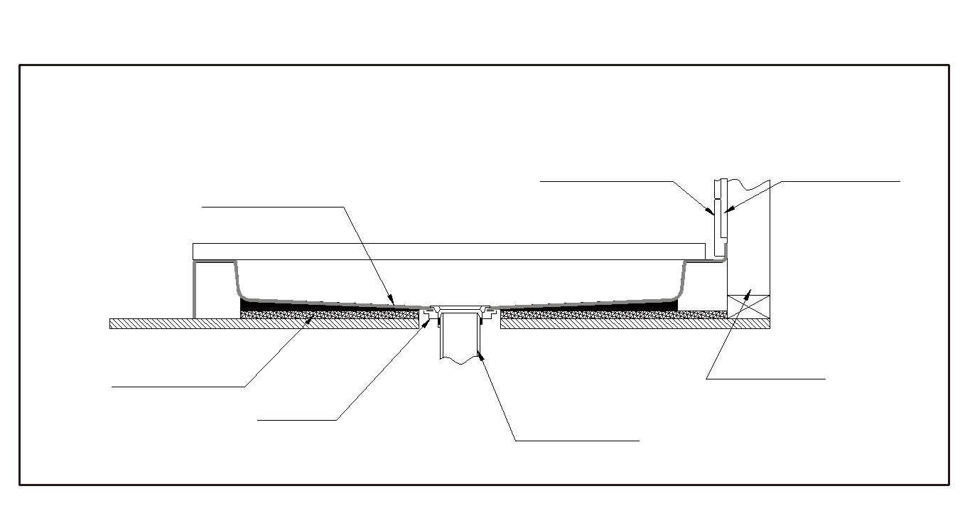 Diagram of the Shower Base in a Cross Section Shower Base Finished all Cement board