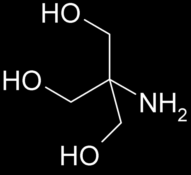 Tris buffer Tris(hydroxymethyl)aminomethane), is an organic buffer with the formula (HOCH 2 ) 3 CNH 2. Tris has a pka = 8.07.