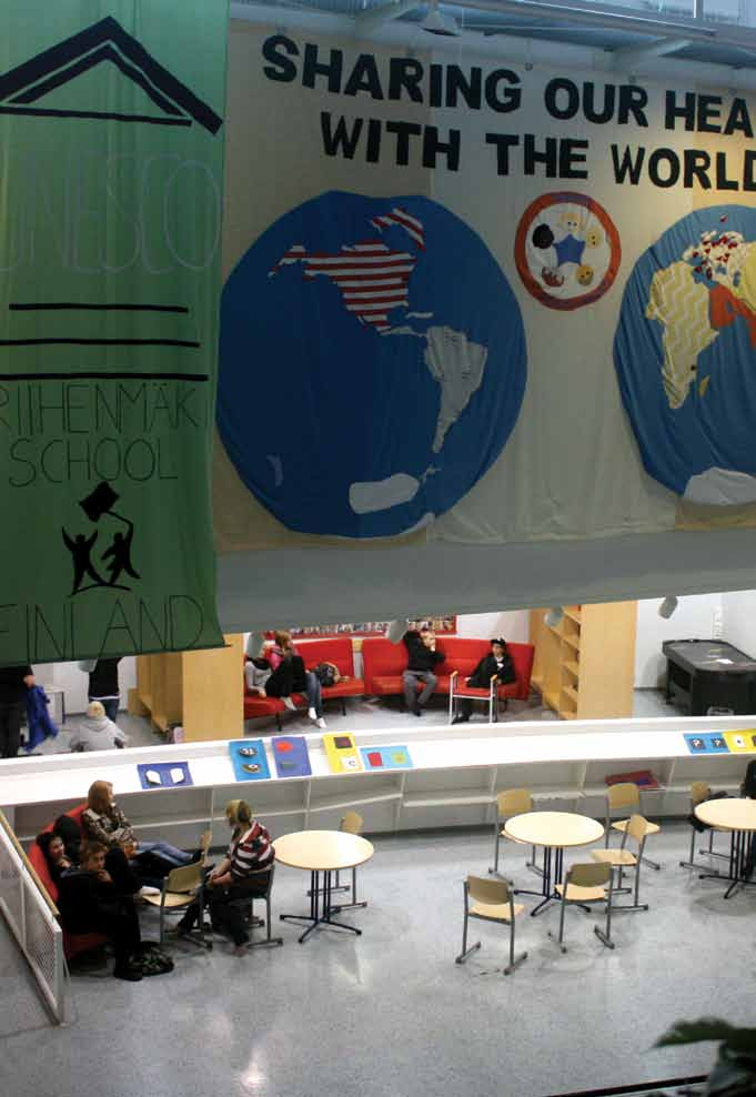 g Internationality can be seen as soon as you enter Riihenmäki School.