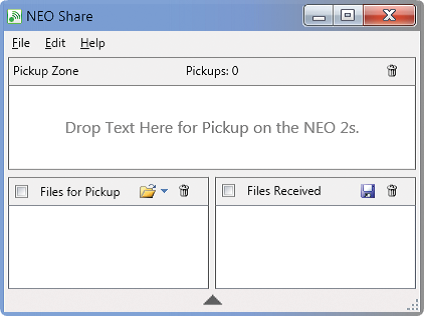 Developing Writers with NEO 2 Files for Pickup also includes a folder icon, which allows you to access and manage Write On!