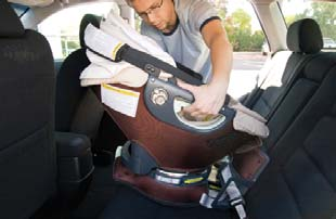 Only use the Release Levers when removing the Infant Car Seat. Do not allow children to operate the Release Levers.