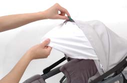 The weight of objects may cause the Sunshade to collapse. FALL HAZARD: Never carry the Infant Car Seat by grasping the Sunshade.