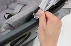 Sunshade Extension back into its pocket when not in use. The Sunshade is removeable for spot cleaning: 1.