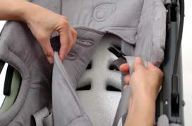 Pull the Buckle through the slot in the Upholstery (Photo E), which completely frees it from the