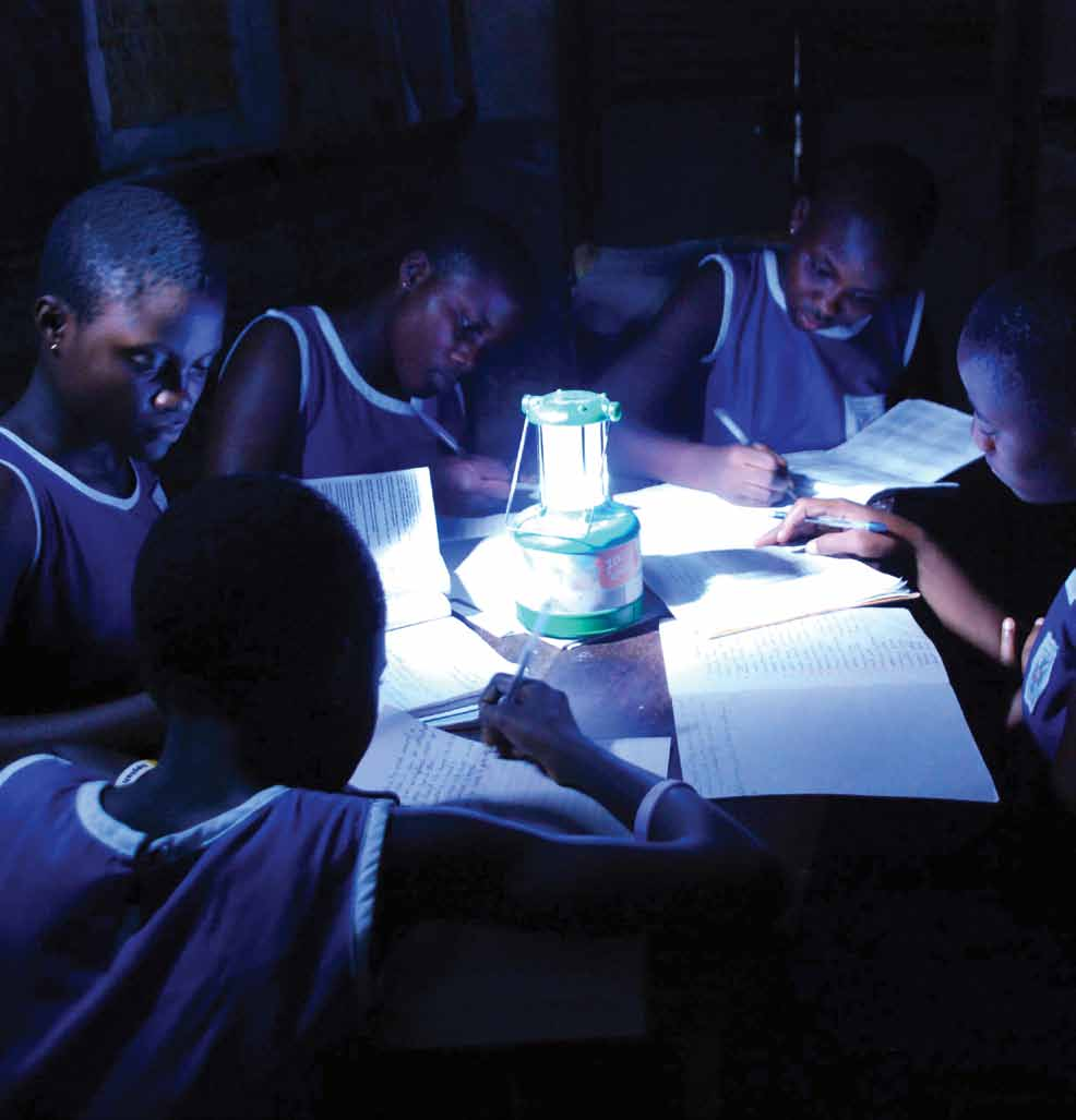 061 Off-grid lighting for the Base of the Pyramid October 2010 Schoolgirls