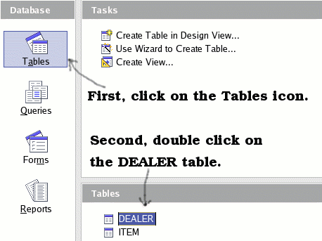 One-To-Many relationships Figure 6: Open the DEALER table for editing. The ID field is an AutoValue field, and it is shown as such in the table (see Figure 7).