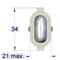 It might include the length of pins if they surmount the lower lamp end or the length of a cap guide post.