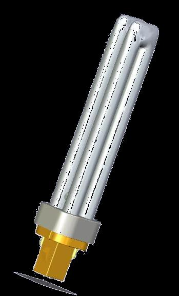 OSRAM DULUX D 10 W 600 lm 13 W 900 lm 18 W 1200 lm 26 W 1800 lm Light colours LUMILUX 827, 830, 840 With built in glow starter Only for CCG operation G24d, 2 pin base Average life time: 10,000 h
