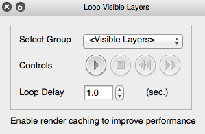 Creating a temporal animation You have two options to create animations 1. Using the Loop Visible Layers plugin 2.