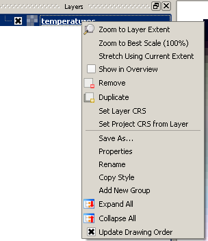 To change the rendering of your data Right- Click on the layer and select