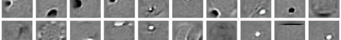 Some features detect parts of strokes, and they typically inhibit the region of the image that is further from the center than the stroke fragment.