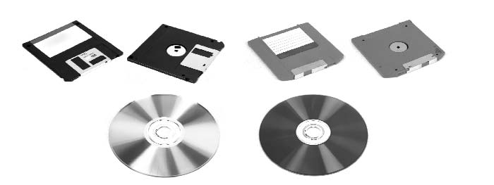 Removable media are cartridges and disk-based data storage devices.