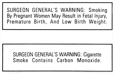 12 Public Law 98-474, Comprehensive Smoking Education Act, 1984 Credit: Smoking Tobacco & Health, Centers for Disease Control Since the 1980 s, federal, state, local