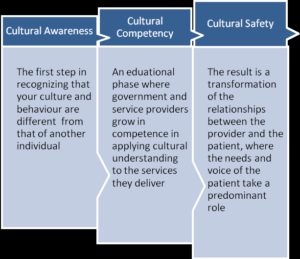 CHAPTER 8: Changing Outcomes Through Culturally Competent Care Figure 8.1. Cultural awareness, competency, and safety evaluation of their program.