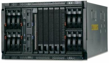 POWER blades support IBM i, AIX and Linux partitions.
