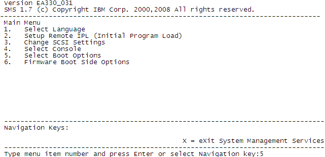 o Type the following command and press Enter, where x is the slot number of the POWER blade: env T blade[x]. o Type console and press Enter to assign the VIOS console.