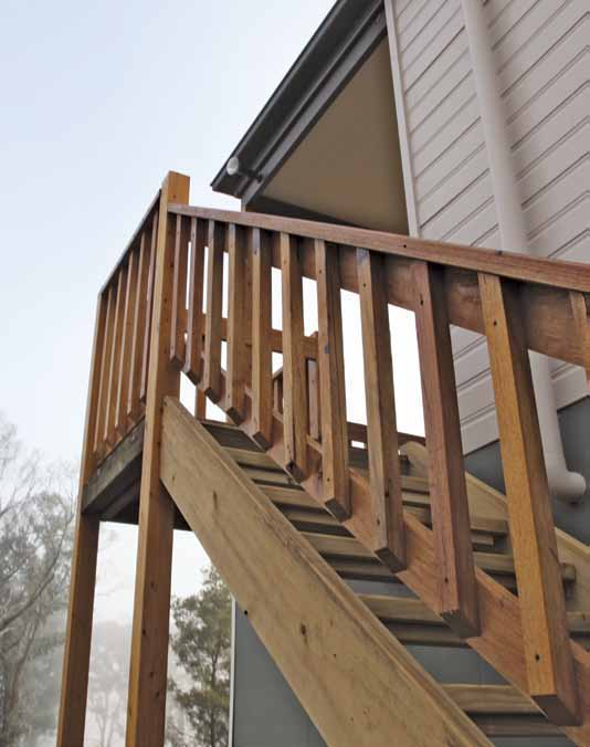materials; or > Bushfire resisting timber as specified in Balustrades, handrails and other barriers less than 125mm from any glazing or any combustible wall should be constructed of: Non-combustible