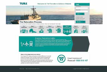 TOLL TRANSITIONS: DEFENCE relocation GUIDE The relocation process Getting started The information below outlines the process you need to follow to ensure your relocation is initiated in a timely