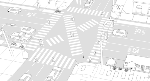 .. 3 Goals» Prioritize the pedestrian at the intersection» Increase safety and visibility for pedestrians» Shorten crossing times for pedestrians Guidelines & Resources Safety was improved after