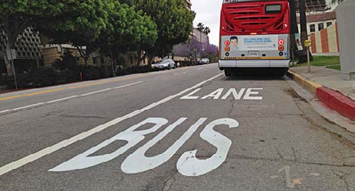 Guidelines & Resources» Use bus-only lanes and design lights for buses, along long transit corridors» Consider the application of contra-flow bus lanes where streets are one-way, but short, efficient