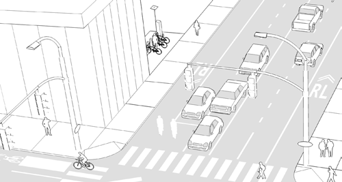 PATH TOOLBOX 5 ALLOCATION OF STREETSPACE PATH PLANNING GUIDELINES Sidewalk Widening Rolling Lane Goals» Shift the balance of the roadway so that it caters more to active transportation users of all