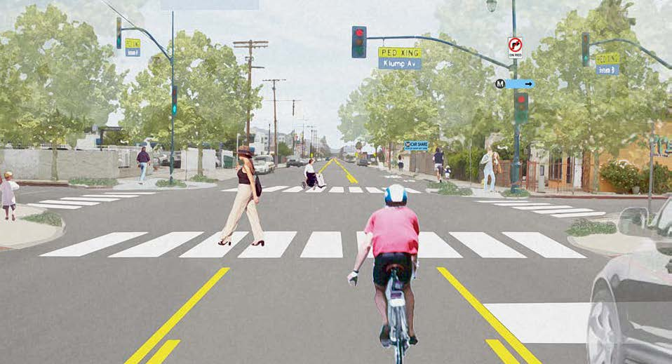 6 ILLUSTRATIONS PATH PLANNING GUIDELINES North Hollywood Station, Location 2 Burbank Blvd. and Klump Ave.