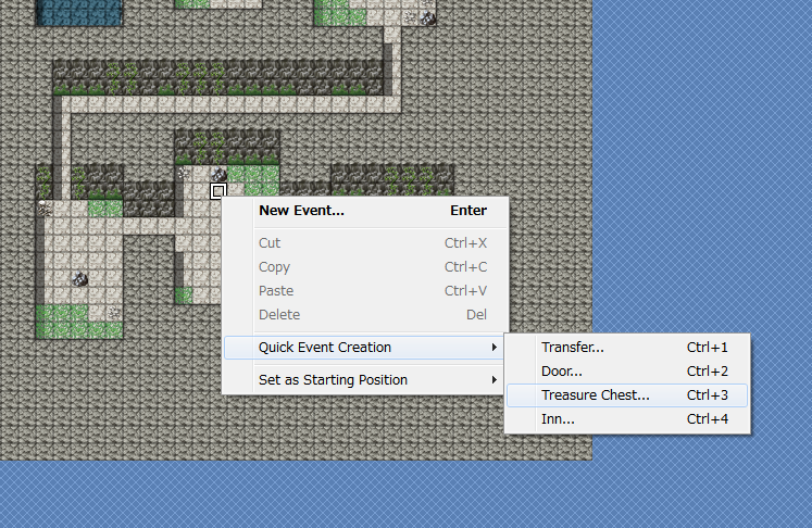 treasure chest. You can choose a suitable location on your map and right-click.