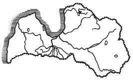 Fig. 1. The location of the Zvejnieki site in northern Latvia. doned and gradually fell apart, something that facilitated further excavation.