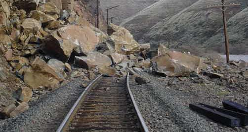 Above-average snow and torrential rains battered BNSF with mudslides and flooding that caused main track outages.