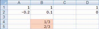 Technology Guide 545 Solution with Technology In Excel, enter the initial distribution vector in cells A and B and the transition matrix to the right of that, as shown.