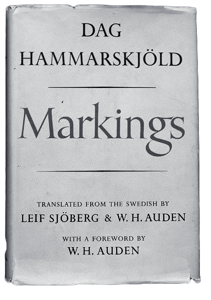 Markings. First published in Sweden as: Vägmärken. London: Faber and Faber, 1964. Markings. First published in Sweden as: Vägmärken. New York: Ballantine, 1983.