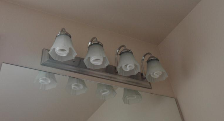 installed lighting fixtures shall be high-efficacy lamps or 75% of