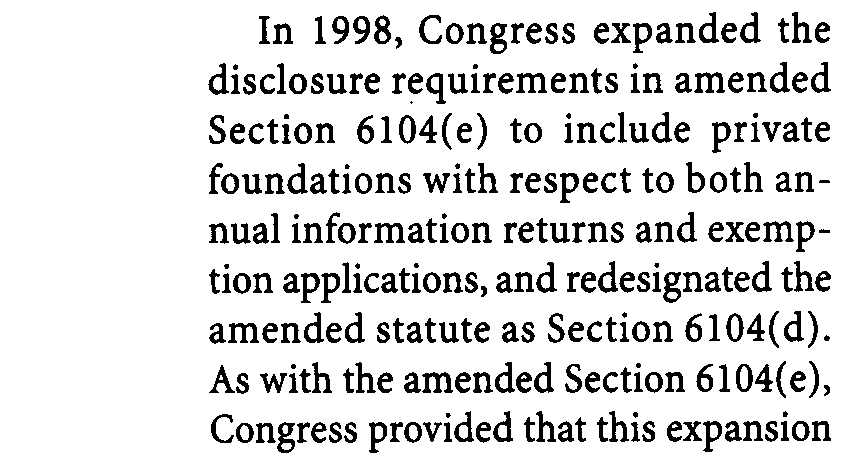 (requiring private foundations to a/low public inspection of their annual returns and publication of a notice to this effect in a local newspaper). 2 Regs. 301.61 04(d)-3(h), -4(e), and -5(g); Ann.