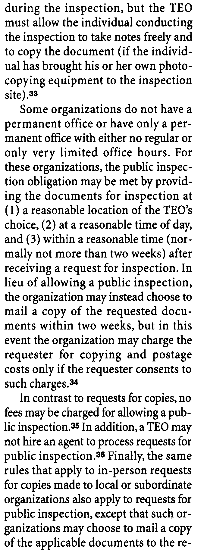 6104(d)-3(f) ply for TEOs that do not file their own returns or their own applications for tax exemption but instead are covered by a group return or group application filed by a central or parent