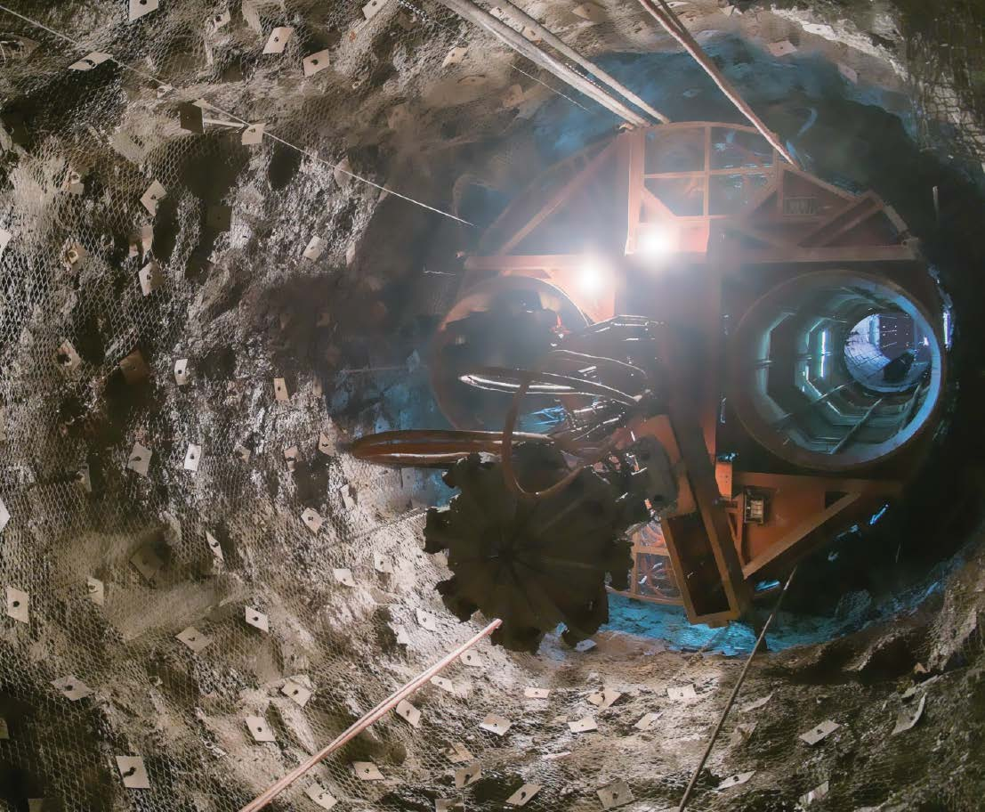 The main shaft achieved a depth of 345m and the ventilation shaft 506m by end December.