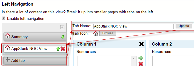 Chapter 6: The AppStack Environment Adding AppStack to a NOC View Viewing the AppStack Environment in a NOC view can only be achieved by first adding a new NOC view, and then creating and applying an