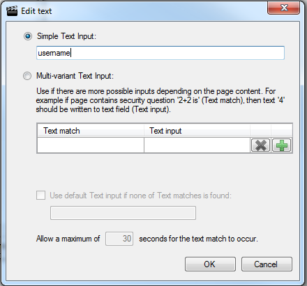 Chapter 3: Recording Sequences variant text in the Multi-Variant Text Input box, and then click OK.