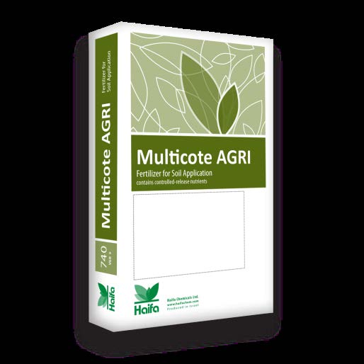 3.1.4 Multicote Agri controlled release fertilizer An N:P 2O:K 2O ratio of 2:1:3* is recommended, as pre-plant application.