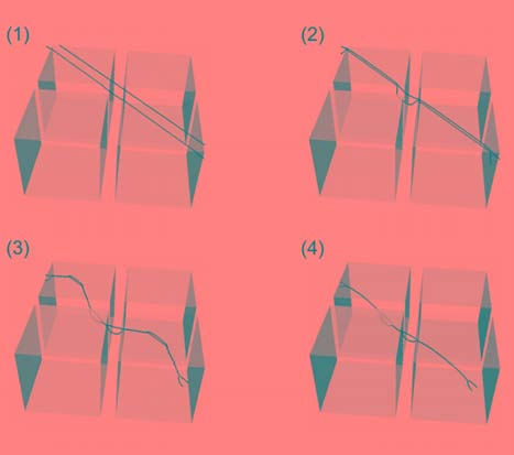 2.4 DCM studies of plastic deformation in γ/γ superalloys 69 planes containing a regular periodic pattern of two equilateral triangular sections (which are alternatively pointing up and down as shown