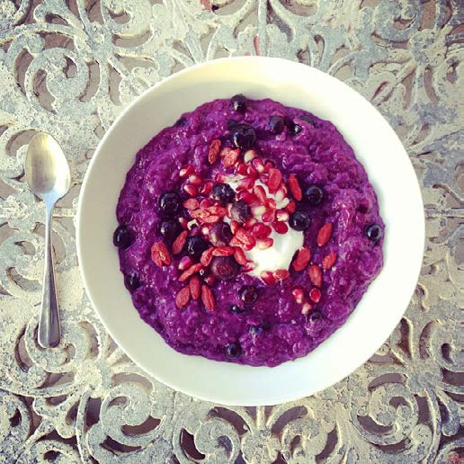 BREAKFAST PURPLE CARROT PORRIDGE by @ajaneday ajaneday.blogspot.