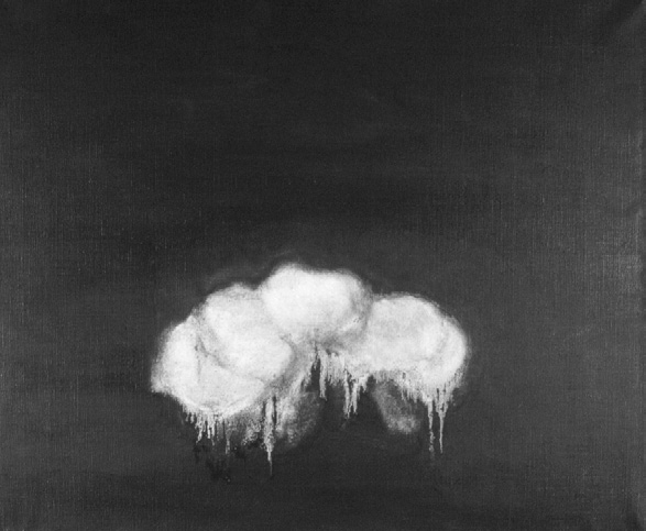 Fujiko Nakaya Cloud Series, 1964. Oil on canvas, 15 x 18 inches. Image courtesy of the artist symbolize and manifest.