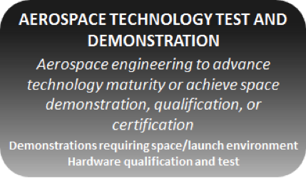 The Tauri Group SRVs can be used in aerospace engineering to advance technology maturity or achieve space demonstration, qualification, or certification.