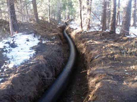 Water Conservation and Efficiency Through piping projects such as this one, the Three Sisters Irrigation District and the Deschutes River Conservancy have been able to protect more than 20 cubic feet