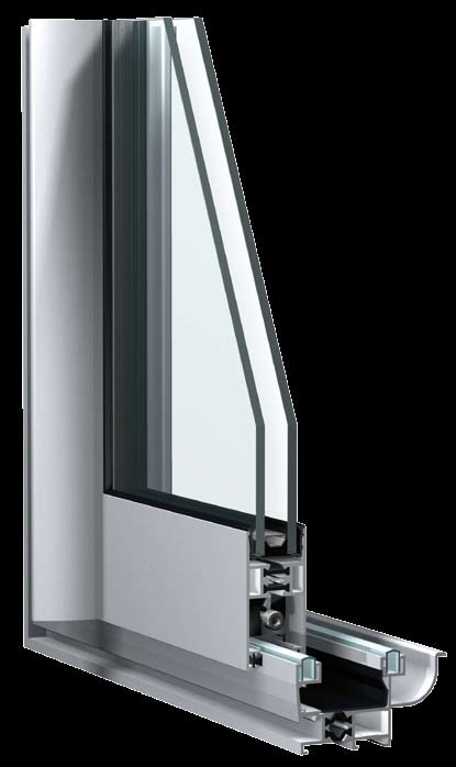 Confort 26 is Sapa s thermally insulated sliding system for windows and doors. Available as two- and three-rail solution.