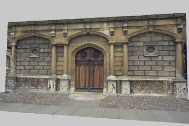 (a) KeImage (b)warpedoffsetimage (c)offset Image (d) ComputedDisparitMap Figure 14: (a) and (c) Two images of the entrance to Peterhouse chapel in Cambridge, UK.
