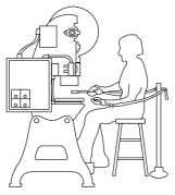 Figure 14 Restraint Device on a Power Press Figure 17 Power Press with a Gate Gate Figure 15 Presence-Sensing Device on a Power Press Control Box Press Bed Guarded Foot Control Figure 16 Two-Hand